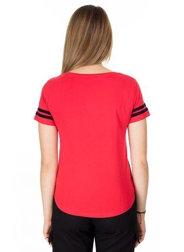 Lela Lela Bisiklet Yaka Kadın T Shirt 5411037 Kırmızı